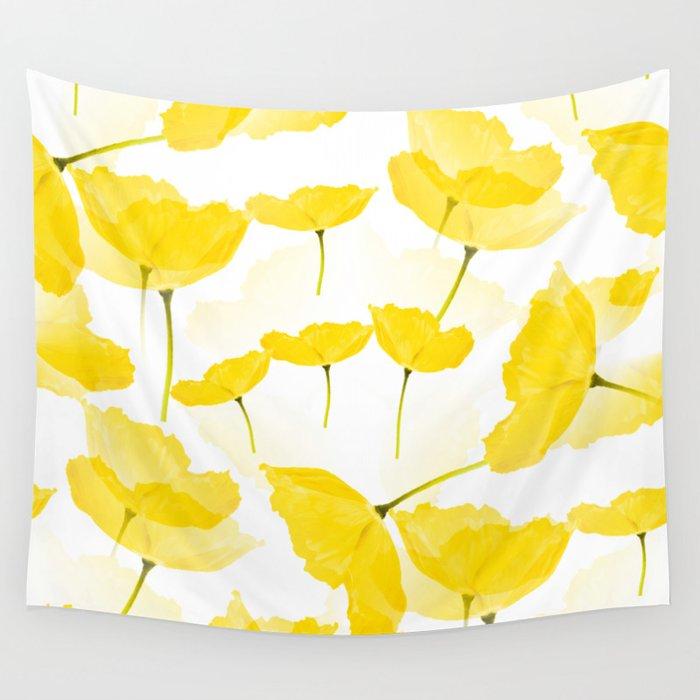 Light Yellow Poppies Spring Summer Mood #decor #society6 #buyart Wall Tapestry