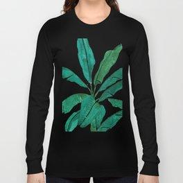 banana leaf watercolor Long Sleeve T-shirt
