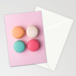 Pink Macaroons Stationery Cards