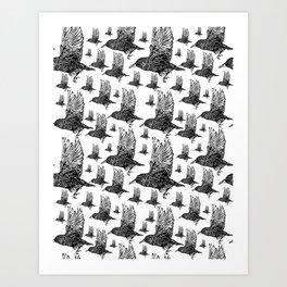 Flock of Starlings / Murmuration Art Print