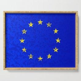 EU Flag Serving Tray