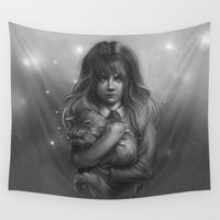 hermione Wall Tapestries featuring Hermione by AlchemyArt