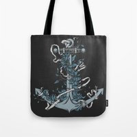 anchor Tote Bags featuring Anchor by BEADLER Design and Illustration