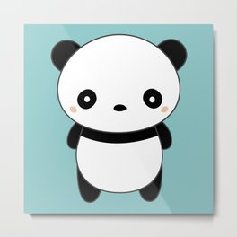 Kawaii Cute Panda Metal Print