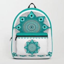 """Teal Flower Power ^_^"" Backpack"