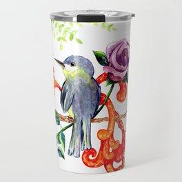 Rose Bird Travel Mug