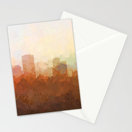 Little Rock, Arkansas Skyline - In the Clouds Stationery Cards