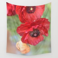 ruby Wall Tapestries featuring Ruby by Lisa Argyropoulos