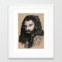 thorin Framed Art Prints featuring Thorin by Katy-L-Wood