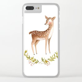 Cute deer Clear iPhone Case