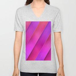 pink line Unisex V-Neck