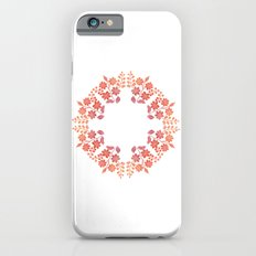 Orange floral circle iPhone 6s Slim Case