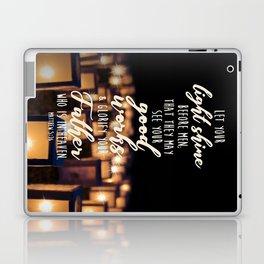 Matthew 5:16 Laptop & iPad Skin