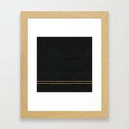 Black Velvet with Gold Lines Framed Art Print
