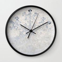Snowflakes frozen freeze Wall Clock
