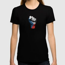 Czech Flag on a Raised Clenched Fist T-shirt