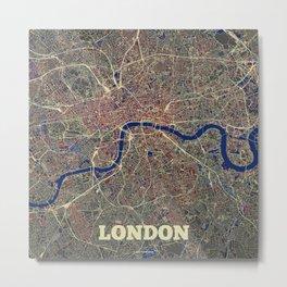 London Street Map Metal Print