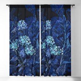 Hydrangea and Horseradish, Summer Plants, Floral Art Blackout Curtain