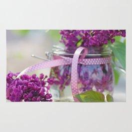 Lilac Spring Still life Rug