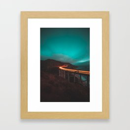 Bixby Bridge Light Trail Framed Art Print