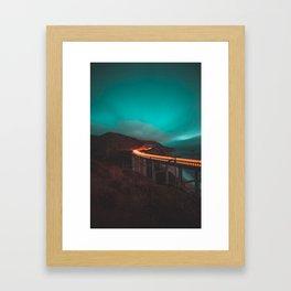 Bixby Bridge Light Trail Framed Art Print
