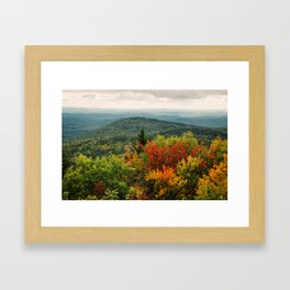 The Changing of Leaves, New England Framed Art Print
