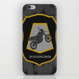 'm Fucking Biker iPhone Skin