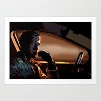 ryan gosling Art Prints featuring DRIVE- RYAN GOSLING by MATT WARING