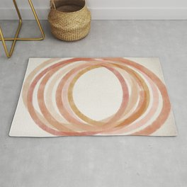 Summer Circle #2 - Abstract Art Print Rug