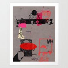 Weg mit dem Kapital III Art Print