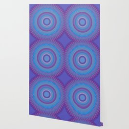 Electric Purple Blue Mandala Wallpaper