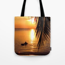 Island sunset relaxation Tote Bag