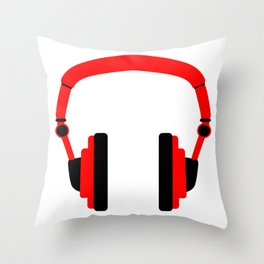 Pair Of Headphones Throw Pillow