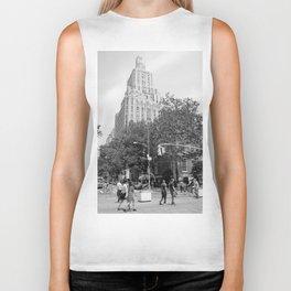 New York City (NYU) Architecture - Black & White Biker Tank