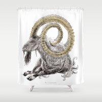 capricorn Shower Curtains featuring Capricorn by Dennis Wilder