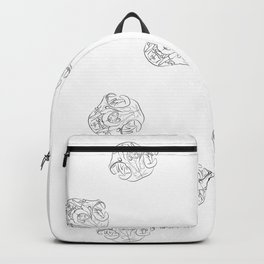 Cat skulls with white background Backpack