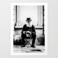 Beggar on the street Art Print