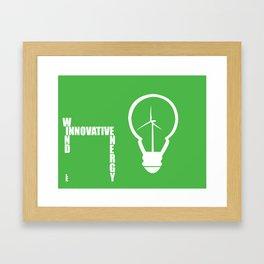 Innovative Energy: BULB Framed Art Print