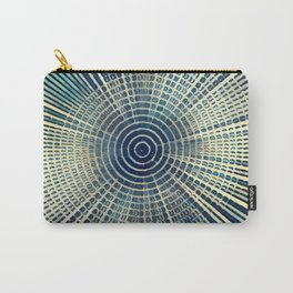 Abstract Vintage circles infinite Carry-All Pouch