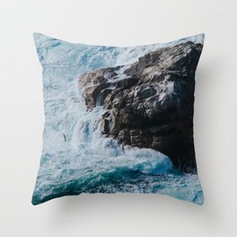 turquoise river Throw Pillow