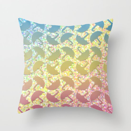 Under my Umbrella! Throw Pillow