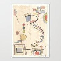 kandinsky Canvas Prints featuring Chasing Kandinsky (2014) by Eli Dorman