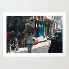 Kathmandu Streets Art Print