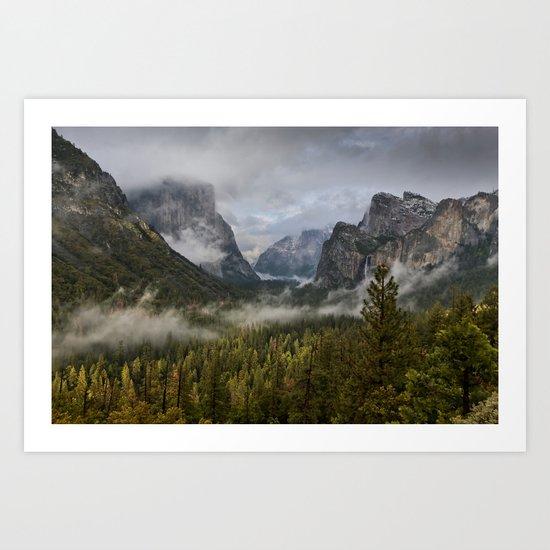 Yosemite National Park / Tunnel View  4/26/15 Art Print