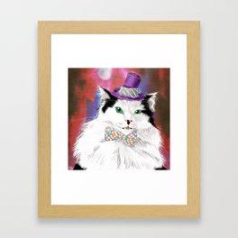 The Oreo Cat Framed Art Print