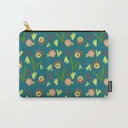 Modern Organic Floral Pattern // Hand-drawn Illustration Carry-All Pouch