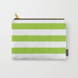Horizontal stripes / yellow green Carry-All Pouch