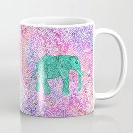 Elephant in Paisley Dream Coffee Mug