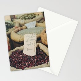 Fresh market herbs Medina Amman, Jordan. Travel print - film photography wall art. Art print. Colourful Stationery Cards