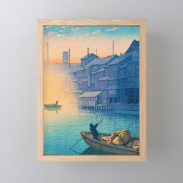 DOTONBORI MORNING - Kawase Hasui Framed Mini Art Print